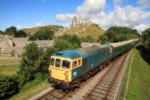 Class 33 on the Swanage Railway