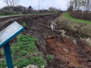 Work to reduce flooding and restore historic waterway begins. Photo credit Derby and Sandiacre Canal Trust