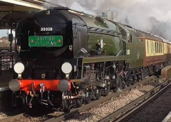 35028 Clan Line hauling The Belmond British Pullman