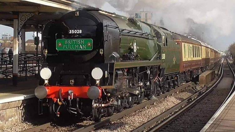 35028 Clan Line hauling The Belmond British Pullman