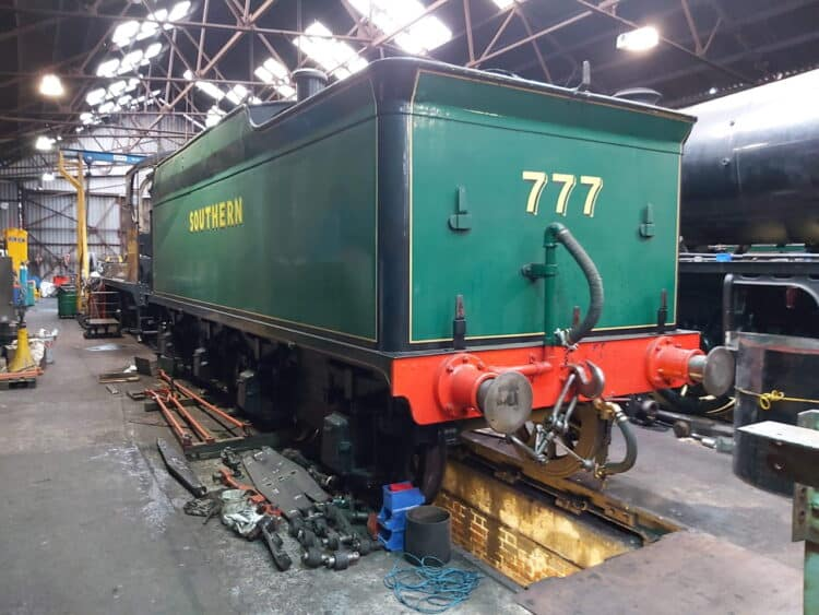 777 Sir Lamiel's tender under going overhaul