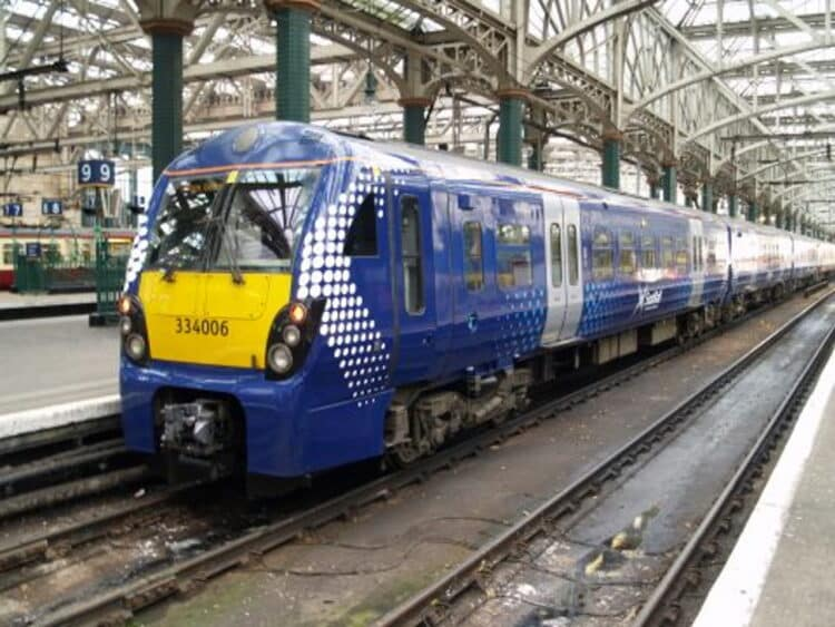ScotRail 334006 in Saltaire Livery