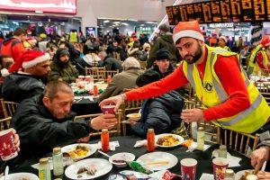 Network Rail's Birmingham New Street Christmas Eve Meal for the homeless