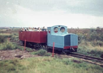 Busy opening train on the Lincolshire Coast Light Railway