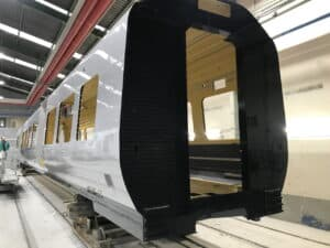 Transport for Wales Class 197 being constructed
