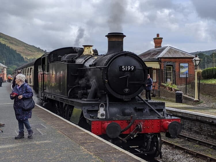 GWR Prairie 5199 at Carrog on the Llangollen Railway