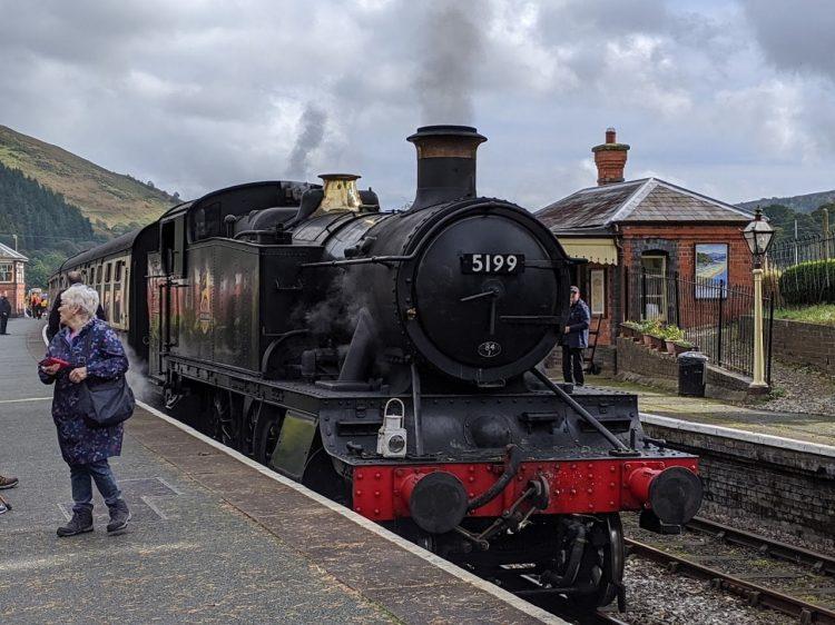 GWR Prairie 5199 at Carrog on the Llangollen Railway