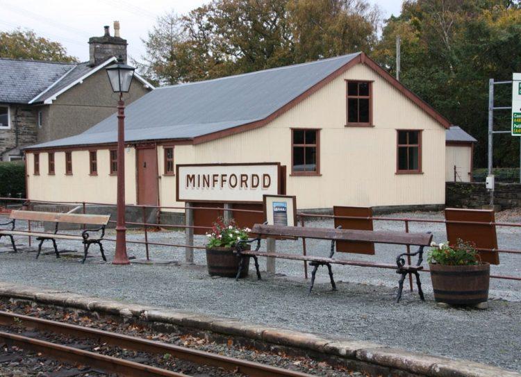 Gweithdy building at Minffordd on the Ffestiniog Railway