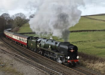 34046 Braunton at Chinley Junction