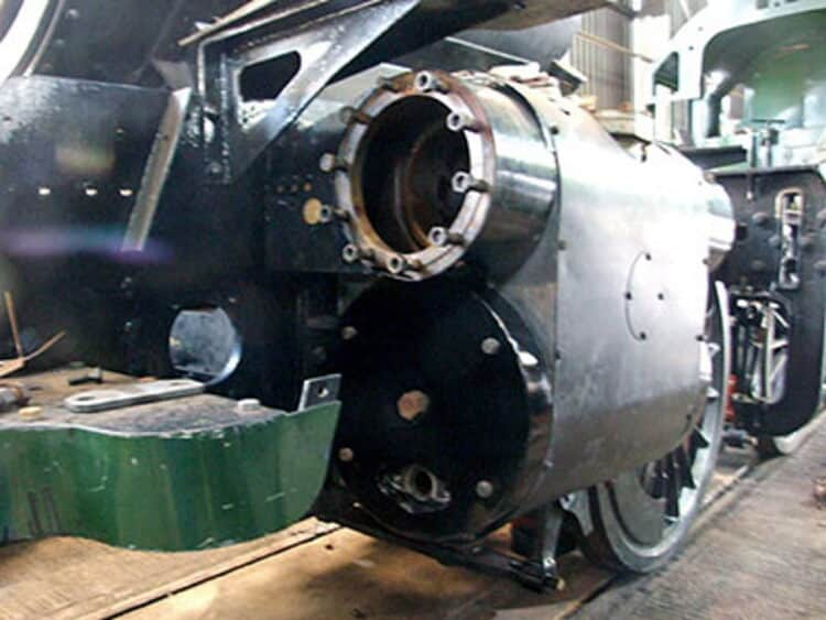 Cladding around front of steam chest and cylinder for Riddles 3MT 82045
