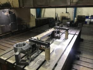 Machining a leading coupling rod at Stephenson (Engineering) Ltd