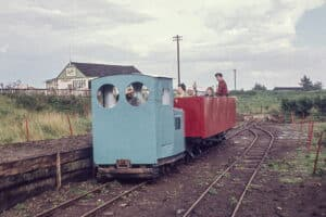 Opening train of the Lincolnshire Coast Light Railway
