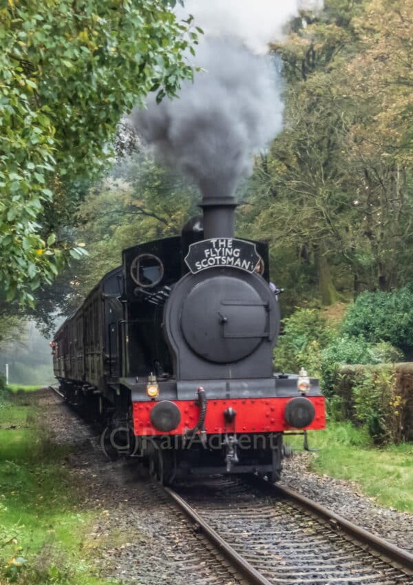 2890 arrives into Summerseat on the East Lancashire Railway