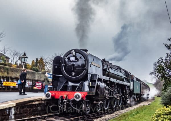 70013 Oliver Cromwell at Oakworth on the Keighley and Worth Valley Railway