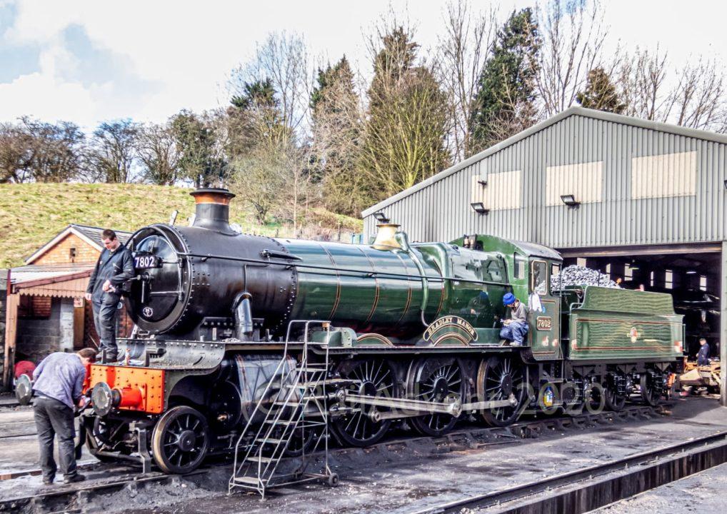 7802 Bradley Manor at Bridgnorth MPD at the Severn Valley Railway