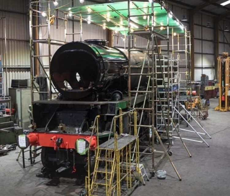 Painting in Progress on 34028 // Credit Dave Ensor