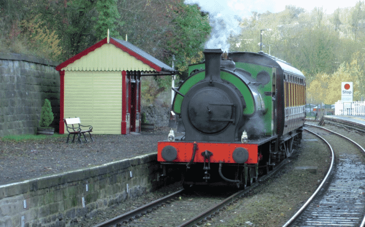 Steam train on the Peak Railway