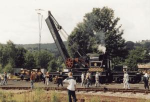 Peak Rail Steam Crane at Rowsley