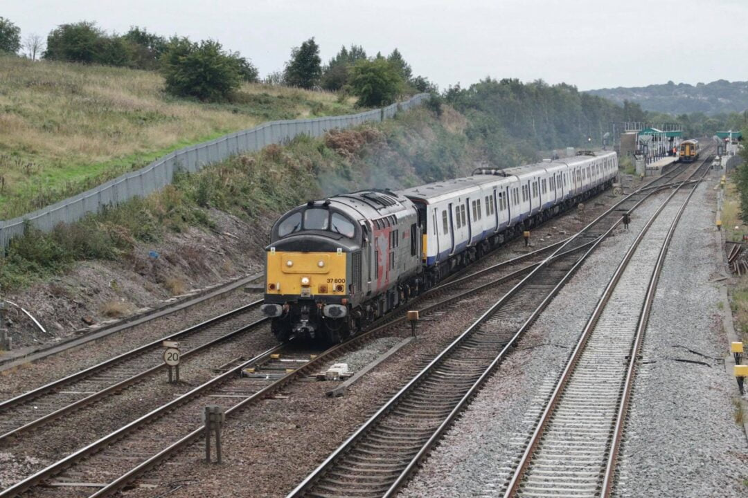 Rail Operations Group Class 37 near Chesterfield