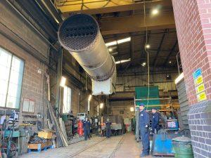 4930 Hagley Hall boiler at Bridgnorth Works