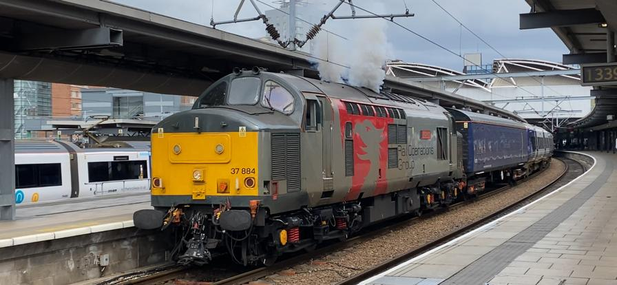 Rail Operations Group Class 37 at Leeds