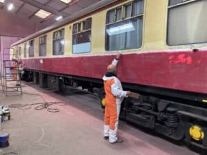 Tornado's support coach being repainted