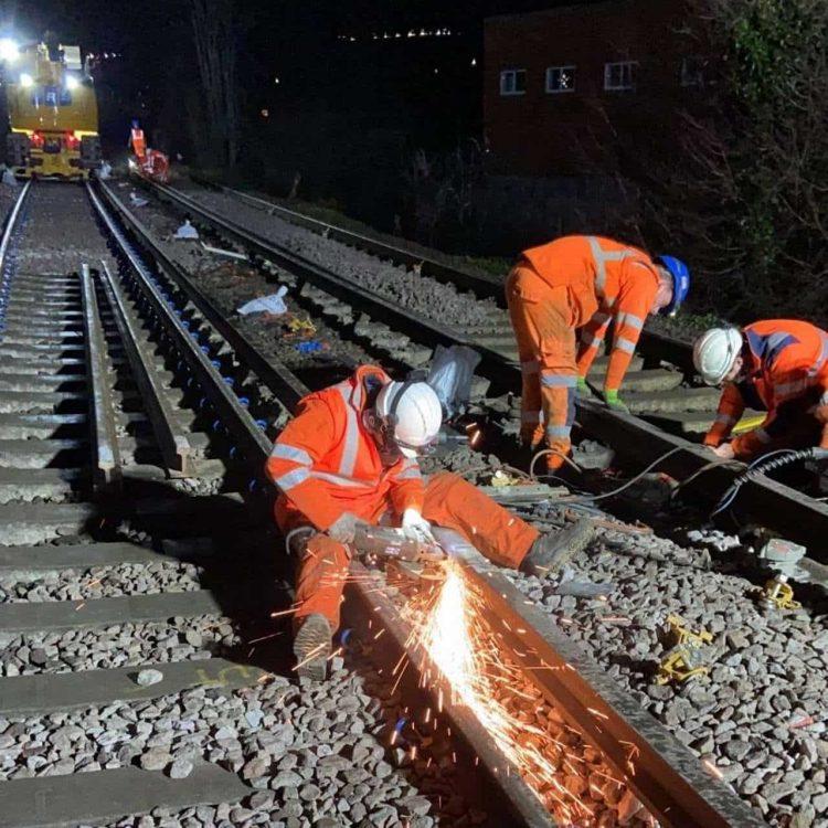 Cosham rail work