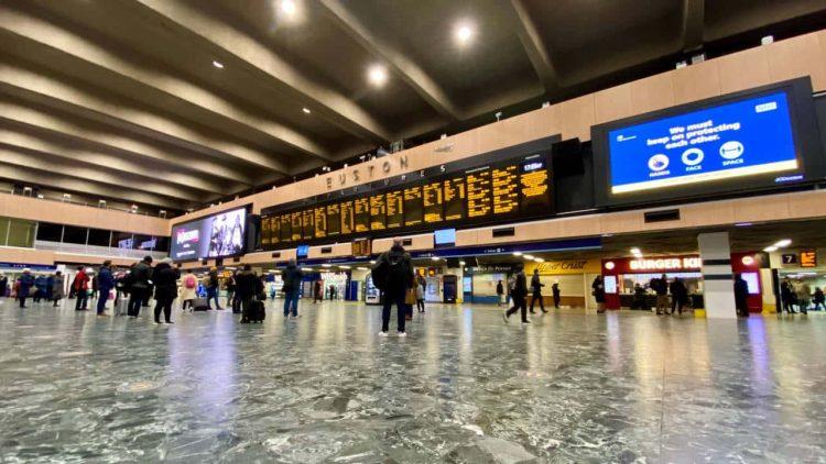 London Euston concourse