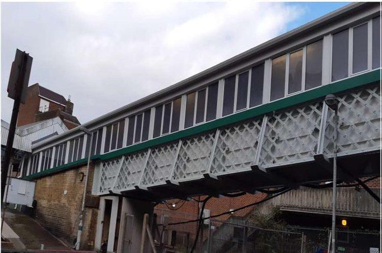 Footbridge at Caterham station