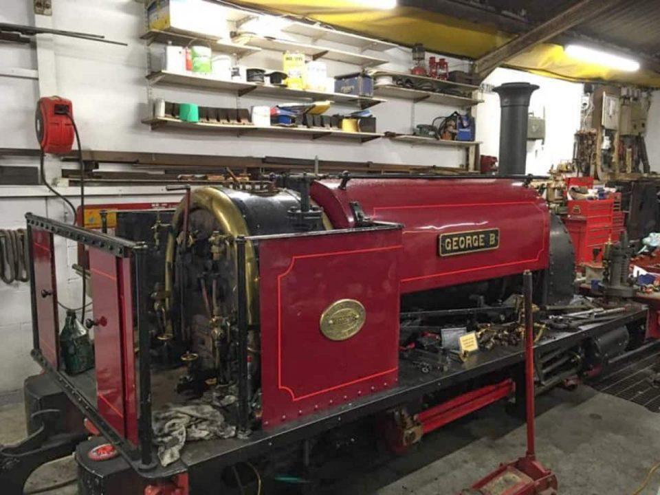 Boiler exam for locomotive George B
