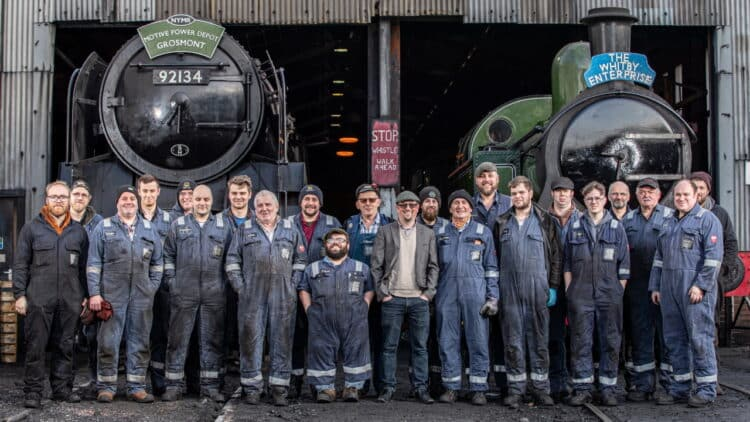 Volunteers and staff at the North Yorkshire Moors Railway