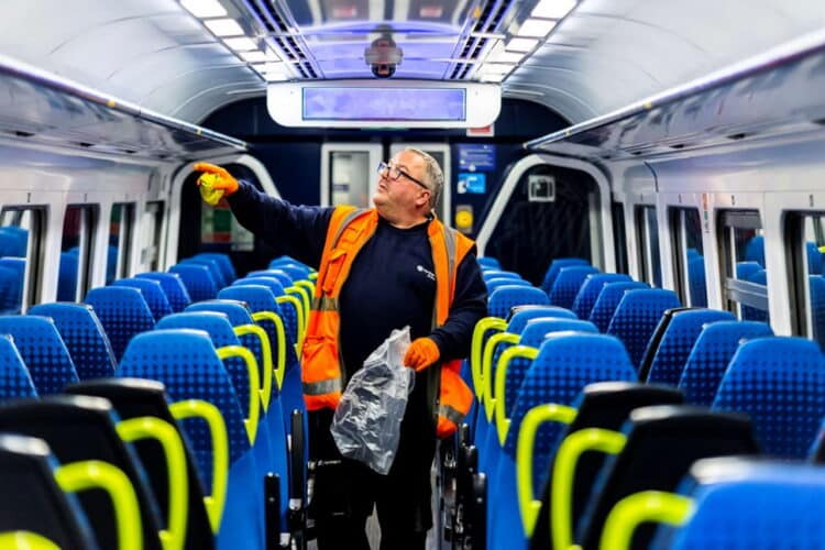 Northren clearer on a train