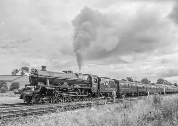 45562 Alberta at Hellifield with The Waverley