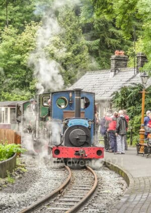 Britomart, Lilla and Linda arrive at Tanybwlch on the Ffestiniog Railway