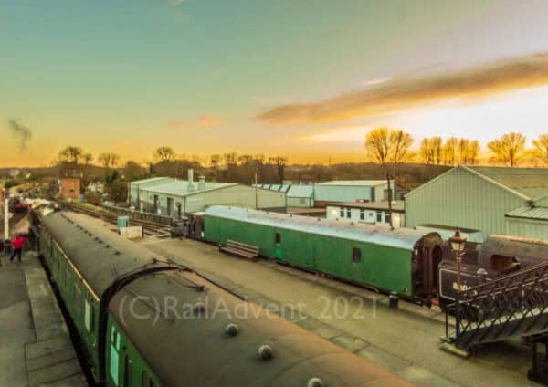 Sunset at Sheffield Park on the Bluebell Railway