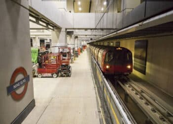 Test train on the Northern Line at Nine Elms