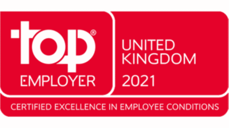 Top Employer 2021 for United Kingdom // Credit Top Employer Institute