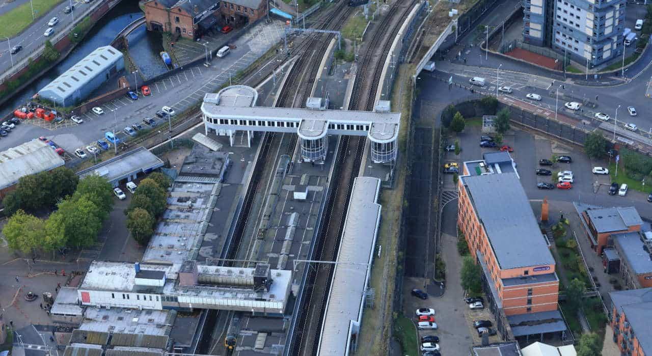 Wolverhampton station - aerial 2