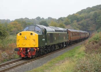 40106 will be departing from Bridgnorth on Train 4 on the English Electric's train