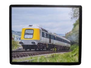 Mousemat featuring HST Prototype powercar 41001 on the Keighley and Worth Valley Railway