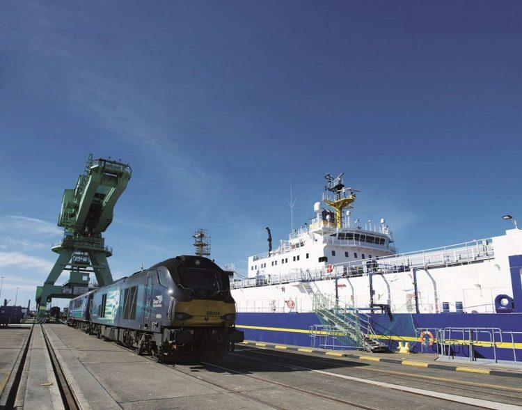 68004 next to a ship