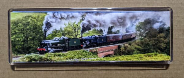 Steam train magnet featuring 6990 Witherslack Hall and 6023 King Edward II