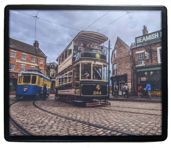 Mousemat featuring the trams at Beamish