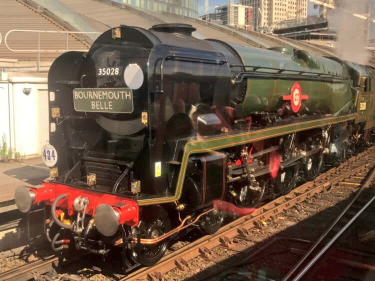 35028 Clan Line with the Bournemouth Belle