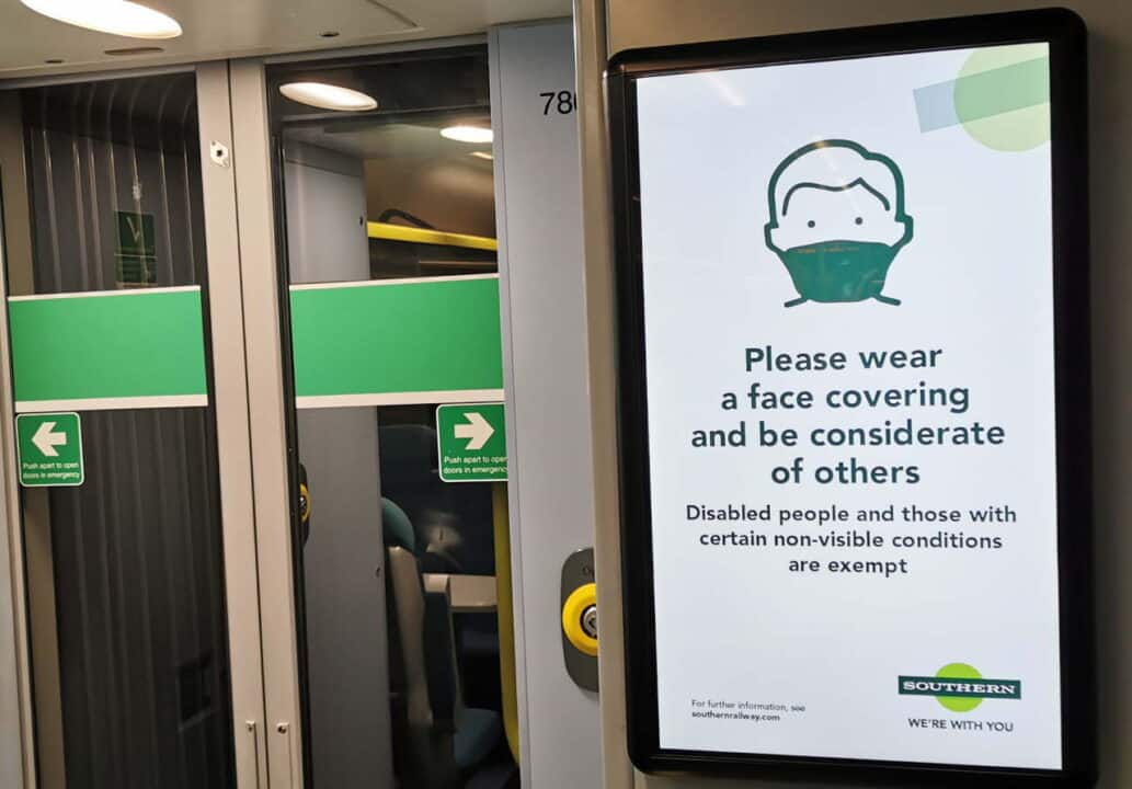 Information screens in the Class 377s