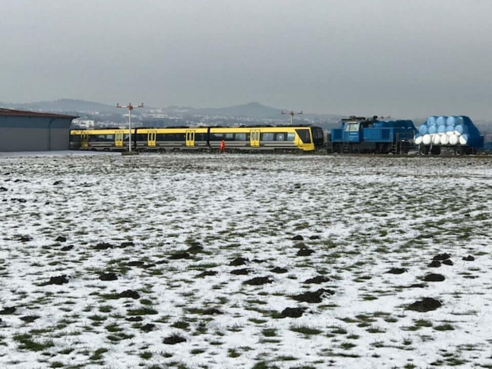 Merseyrail Class 777 preparing to leave the Stadler factory
