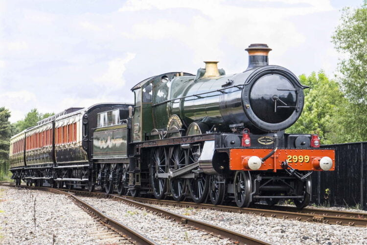 2999 Lady of Legend in steam at the Didcot Railway Centre
