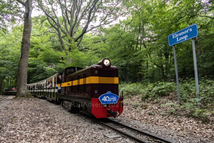 John Rennie in action on the Ruislip Lido Railway