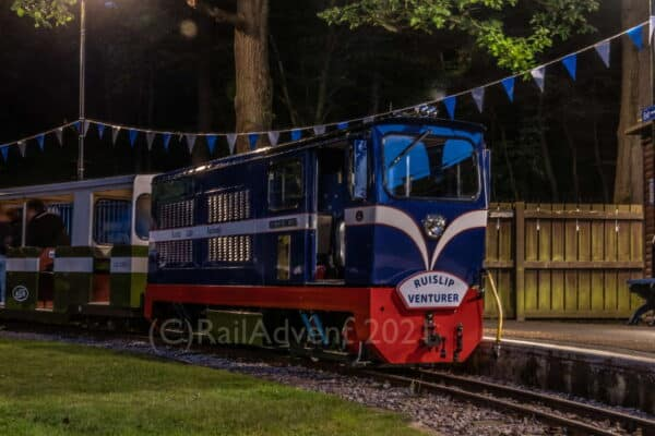 Graham Alexander on the Ruislip Lido Railway