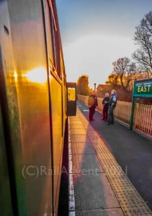 Sunset at East Grinstead on the Bluebell Railway
